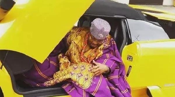 Oluwo of Iwo Kingdom poses with new asset