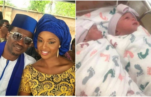 Paul Okoye and Wife, dedicate their Twins