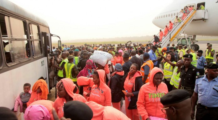 Pregnant women, 211 others return from Libya