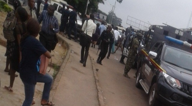 Army, Police,  DSS storm UI over revolution now protest