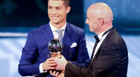 Cristiano Ronaldo awarded FIFA player of the year