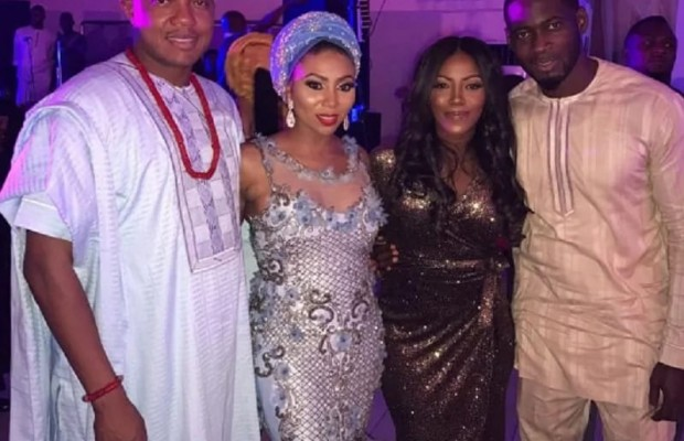 Photos of Tiwa Salvage's reunion with husband