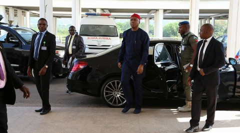 Saraki enters NASS complex in spite siege