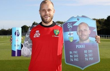 Pukki named premier league player of the month