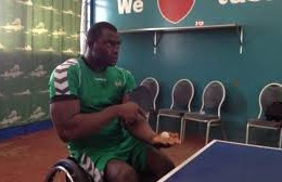 Physically challenged players celebrate World Table Tennis day