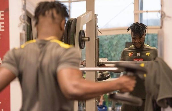Isaac Success resumes training