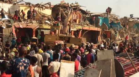 Lagos govt demolishes Ile-Epo market