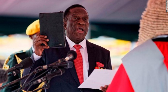 Mnangagwa vows to uphold the constitution