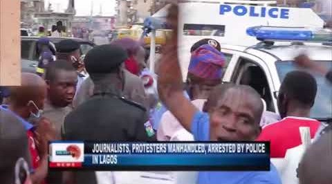 Journalists, Protesters Manhandled and Arrested by Police in Lagos.