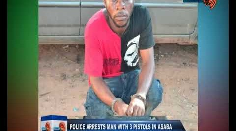 Police Arrests Man with 3 Pistols in Asaba