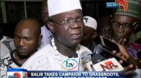 SALIS TAKES CAMPAIGN TO GRASSROOTS, PLEDGES GOOD GOVERNANCE