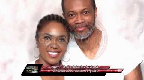 Omoni Oboli Celebrates Husband, Nnamdi as he Clocks 50years.