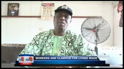 Worker clamor for living wage