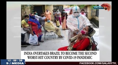 India overtakes Brazil to become the second worst-hit Country by Covid-19