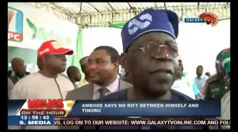 Ambode speaks on alleged rift with Tinubu