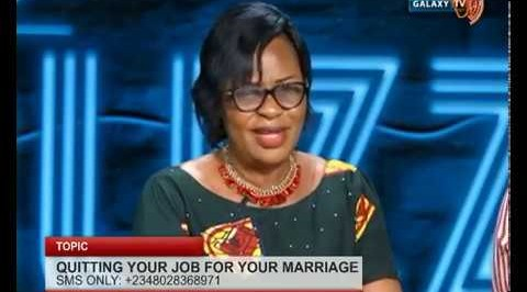 Quiting your job for your marriage