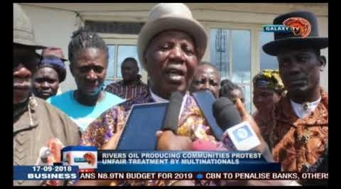 Rivers oil producing community protest treatment by multinationals