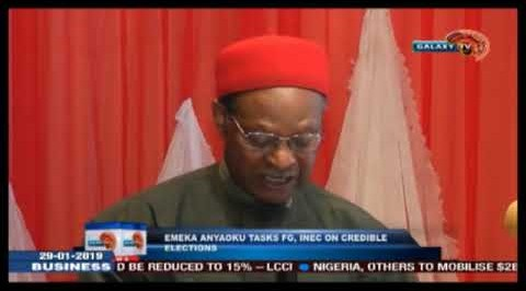Emeka Anyaoku Tasks FG, INEC On Credible Elections