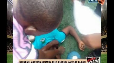 Chineme Martins Dies on the Pitch at the NPFL Game against Katsina United.