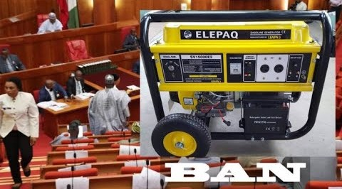 Bill Criminalizing Import, Use of Generators