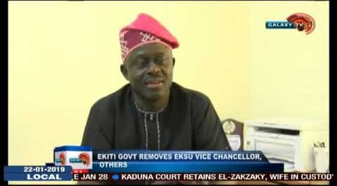 Ekiti GOVT Removes EKSU Vice Chancellor, Others