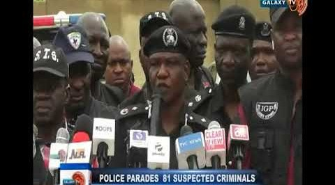 Police Parades 81 Suspected Criminals