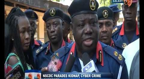 NSCDC Parades Kidnap, Cyber crime Suspects