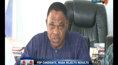 PDP Candidate, Wada Rejects Results