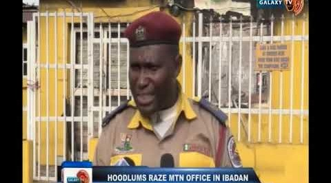 Hoodlums Raze MTN Office in Ibadan