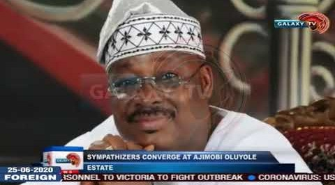 Sympathizers converge at Residents of Former Governor of Oyo State, Late Abiola Ajimobi
