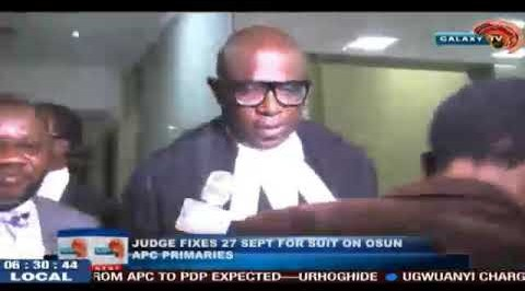 Judge fixes date for judgement on Osun APC Primaries