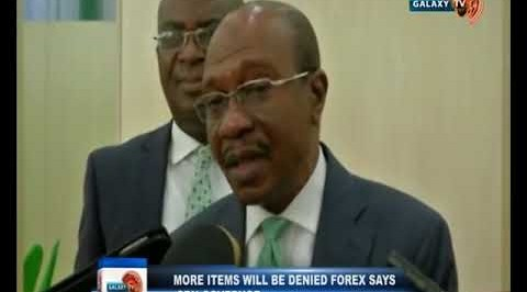 More Items will be Denied Forex says CBN Governor