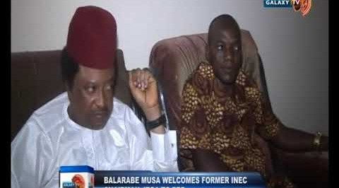 Former Governor Balarabe Musa Welcomes Former INEC Chairman Jega to People's Redemption Party