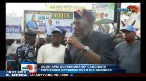 Ogun APM Governorship  Candidate Expresses Optimism Over His Chances`