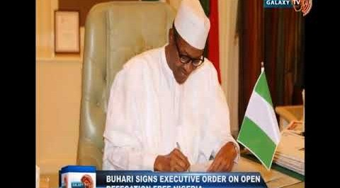 Buhari signs Executive Order on Open Defecation