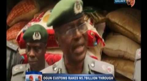 Ogun customs rakes N5.7Billion through anti-smuggling