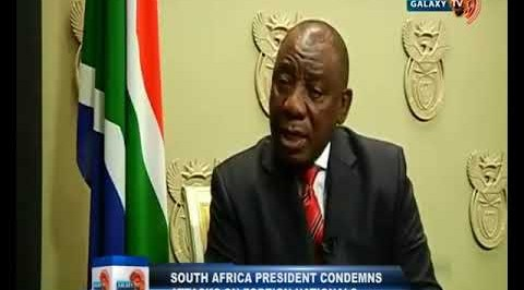 South Africa President Condemns Attacks on Foriegn Nationals