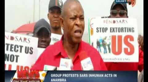 Group Protests SARS Inhuman acts in Anambra