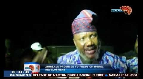 AKinlade Promises To Focus On Rural Development