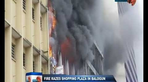 Fire Razes Shopping Plaza in Balogun Market