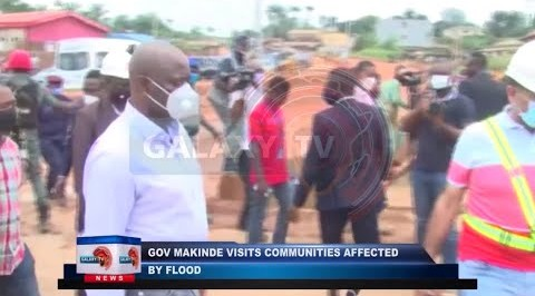 Governor Makinde visits Communities affected by Flood