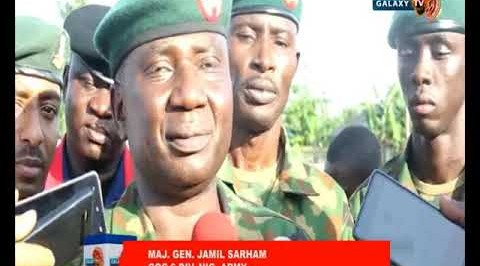 Nigerian Army preaches peace, visits IDP camp