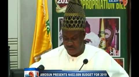 Amosun presents N402.68BN budget for 2019