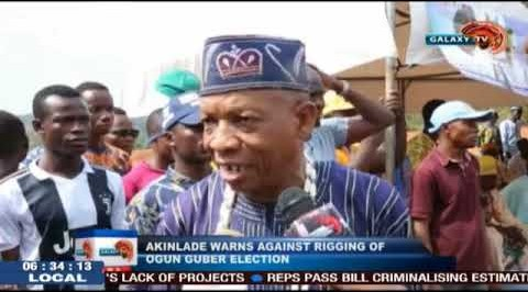 Akinlade Warns Against Rigging of Ogun Governorship Election