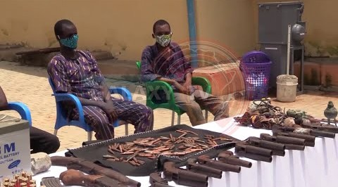The Nigerian Police has Arrested and Paraded Suspected Armed Robbers.