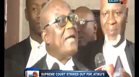 Supreme Court Strikes out PDP, Atiku's Appeal