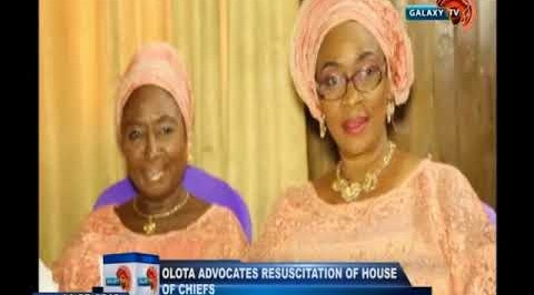 Olota advocates resuscitation of house of chiefs