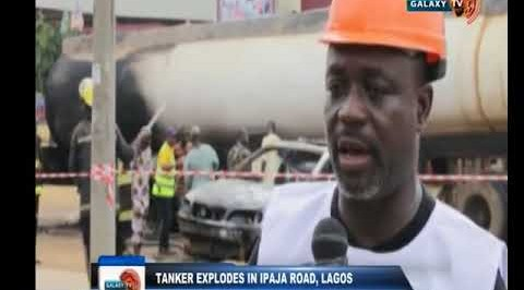 Tanker Explodes in Ipaja Road, Lagos
