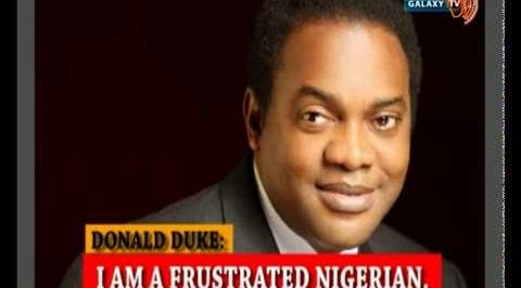 I am a Frustrated Nigerian - Donald Duke