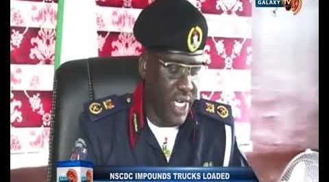 NSCDC Impounds Trucks Loaded with Crude Oil